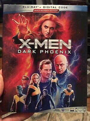 NEW - X-Men Dark Phoenix (Blu Ray + Digital)  w/ SLIPCOVER xmen
