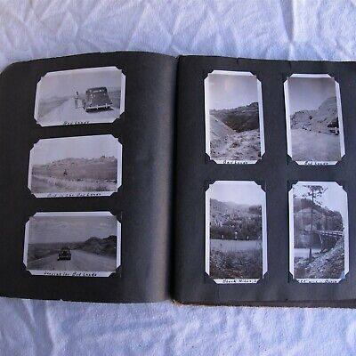 Vtg Lot of Home pictures & Post Cards 1930's Photo Album Nice