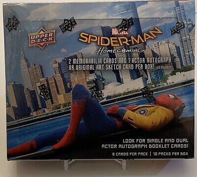 Spider-Man 2017 Upper Deck Marvel Homecoming Hobby Box Factory Sealed New!