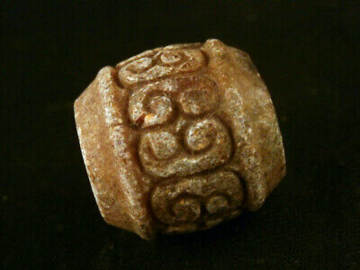 Lovely Chinese Old Jade Hand Carved Bead M115
