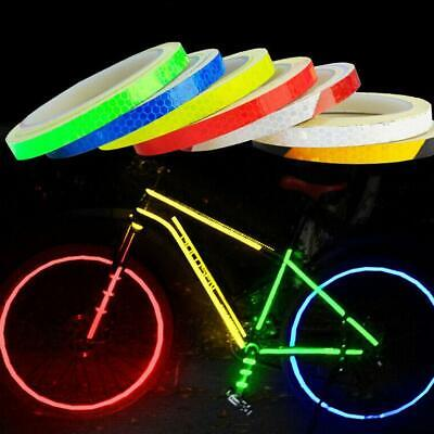 Bicycle Bike Car Motorcycle Reflective Stickers Night Riding Safety Tape 8M