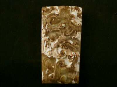 Lovely Chinese Old Jade Hand Carved *Dragon/Phoenix* 2Faces Pendant M224