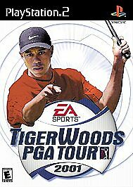 Tiger Woods PGA Tour 2001 (Sony PlayStation 2, 2001) DISC ONLY