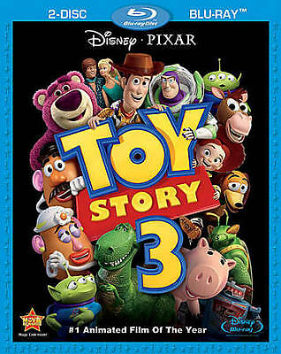 Toy Story 3 (Blu-ray Disc, 2010, 2-Disc Set) DISC IS MINT