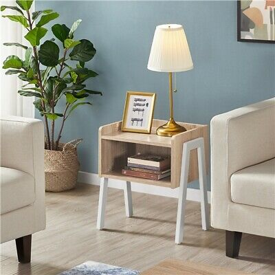 Bedside Table Industrial Nightstand Stackable End Table Retro Rustic Chic Table