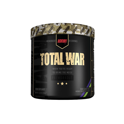 Redcon1 Total War Pre Workout SOUR GUMMY BEAR Flavour 30 serves FREE SHIPPING