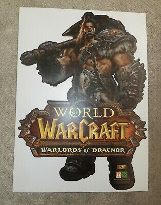 PC PS3 PS4 World Warcraft promo Shop window sticker poster display Draenor vinyl