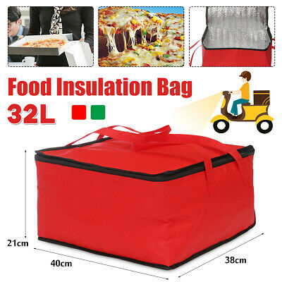 15'' Food Delivery Bag Insulated Thermal Storage Pizza Picni Burgers Pies Cake
