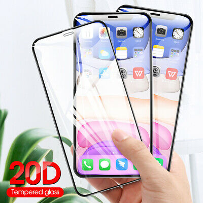 20D Full Coverage Tempered Glass Screen Protector For iPhone 11 Pro Max XS XR X