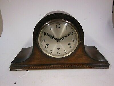 Vintage Wood Cased Mantel Clock with Westminster Chimes