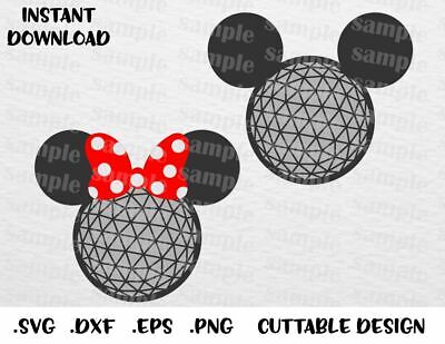 Epcot Mickey & Minnie Cutting File in SVG, ESP, DXF and PNG Format for Cricut