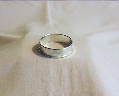Gorham Sterling Silver Napkin Ring,marked 6290; Engraved SUE weighs .4 oz's.
