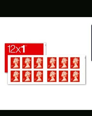 Royal Mail Stamps 1st class Book of 12 Letter Stamps x10books