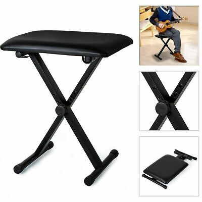 Portable Piano Stool Keyboard Bench Padded Seat Cushion Chair Adjustable Height
