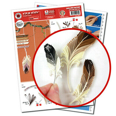 Quilling Template, Feather/ Feder