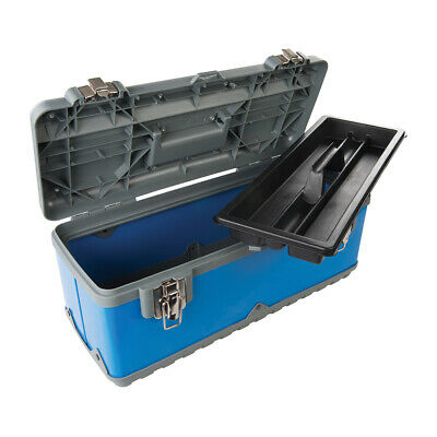 470 x 220 x 210mm Tough Toolbox - Power Coated Steel Body Impact Resistant Case