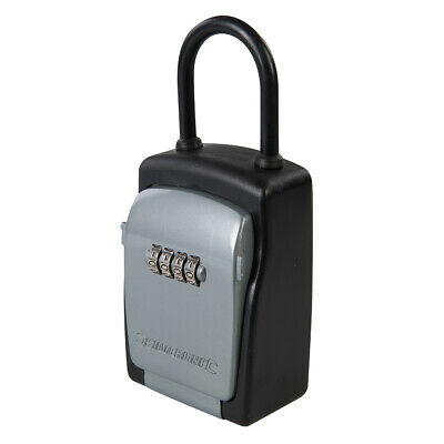 170mm x 75mm 4-Digit Mini Car Key Safe - Portable Lockable Hanging Storage Box