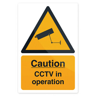 Self-Adhesive CCTV In Operation Sign -200mm x 300mm- Security Warning Sticker