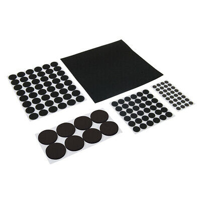 125 Piece Black Adhesive Pads Set -Furniture Feet / Leg Scratch Floor Protectors
