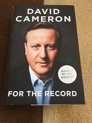 SIGNED David Cameron For The Record Book 1/1 CONSERVATIVES PARTY TORY EU BREXIT