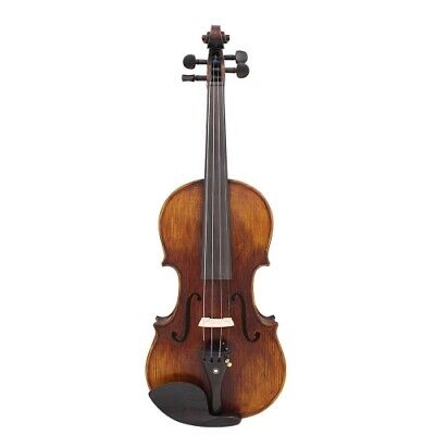 4/4 Full Size Handcrafted Solid Wood Acoustic Violin Fiddle with Carrying Case