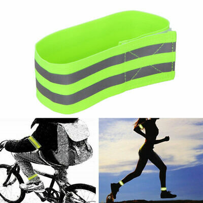 2x Bike Bicycle Reflective Safety Bands Legs//Arms Strap Running X4C2 M0T1 Q5U9