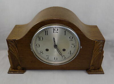 1940s 8 DAY STRIKING MANTEL CLOCK - WORKING, BUT SPARES OR REPAIR