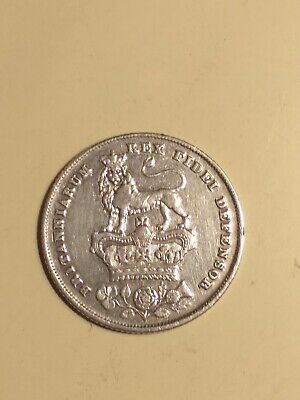 """1826 - Silver rare """"bare head"""" Sixpence of King George IV - Excellent Specimen"""
