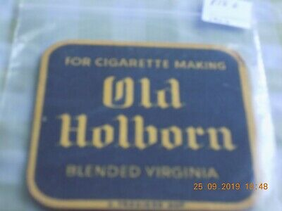Old Beermat Old Holborn Tobacco Cat ??? (1909P56) B