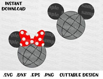 Epcot Mickey & Minnie 2 Cutting File in SVG, ESP, DXF and PNG Format for Cricut
