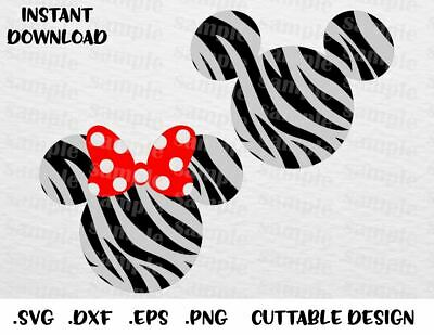 Animal Kingdom Mick & Mn Cutting File in SVG, ESP, DXF and PNG Format for Cricut