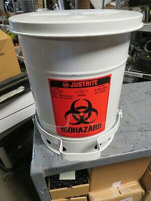 Just Rite .05910. Biohazard Canister 6 Gallon/23 Liter Capacity
