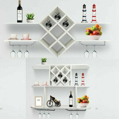 Wall Mount Wine Rack Bottle Storage Holder Bar Accessories Shelves Rack Stand