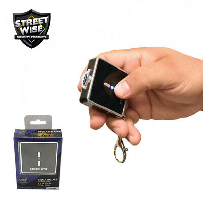 "Streetwise TINY Keychain STUN GUN 26,000,000 Flashlight Alarm > 2"" x 2"" - Black"
