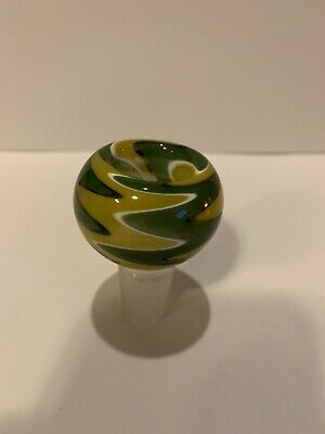 18mm Male Glass Slide Bowl Yellow Z Free Shipping