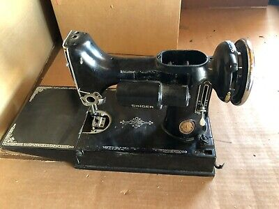 1952 Singer Featherweight 221 Sewing Machine For Parts Scroll Faced