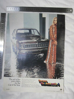 GMH LC Holden Torana 4 Full Page Advertisement removed from a 1970 Magazine