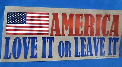 Wholesale Lot Of 20 America Love It Or Leave It Stickers Flag Usa Trump 2020 Gop