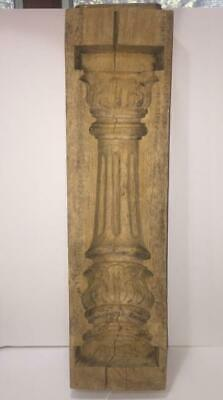 Rare Early 1900s Industrial Architectural Wooden Column Mold/Decorative Purposes
