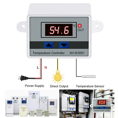 220W 220V 10A Digital Thermostat Control Switch Temperature Controller LED+Probe
