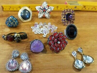 Estate Sale Jewelry Rings & Earrings Lot. Very Attractive, Not sure of value.