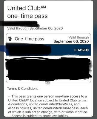 United Airlines UA Club Pass -Quick Email Delivery-Expires 09/06/20 or later