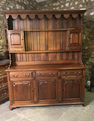 Beautiful Solid Oak Welsh Dresser Country Kitchen base Sideboard Shelves Unit
