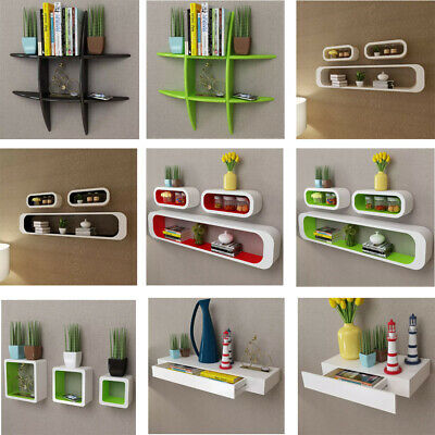 Floating Wall Mount Shelves Book DVD Storage Shelf Display HEAVY DUTY Home Decor