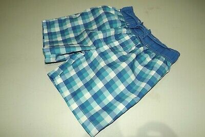 Rebel ~ Boys Turquoise White & Blue Check Print Swim Shorts ~ Age 8 - 9 Yrs