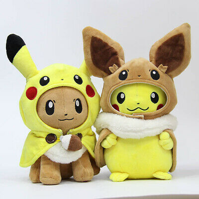 30cm Pokemon Go Plush Soft Toys Pikachu Eevee Cosplay Anime Stuffed Doll Gift UK
