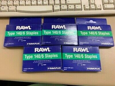 Rawl Type 140/6 Staples, Approx 10000 (5 X 2000)