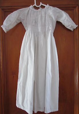 Antique Victorian / Edwardian Children's GOWN - White Cotton & Lace Trim