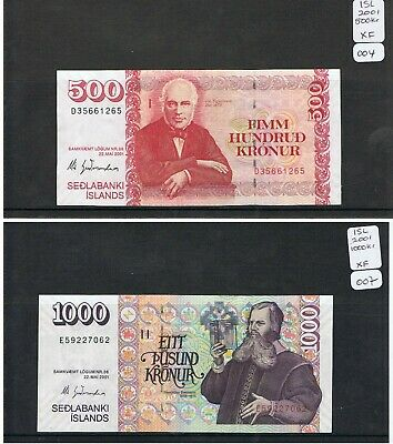 ICELAND Banknotes. Choice of Notes