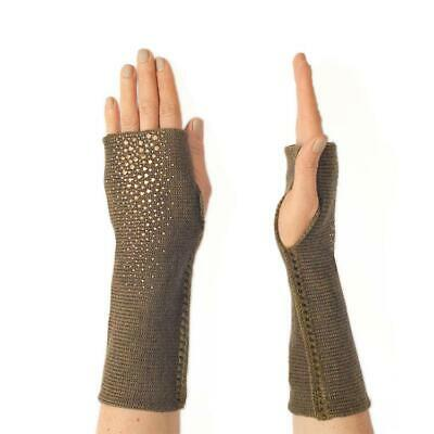 NEW ELYSE ALLEN  MidLength Merino Dragon Fingerless Gloves BLACK, GRAY or OLIVE